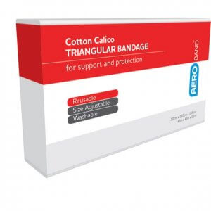 AeroBand Calico Triangular Bandages 110cm x 110cm x 155cm