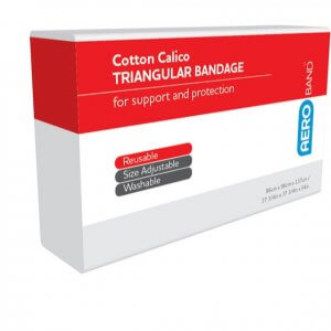 AeroBand Calico Triangular Bandages 96cm x 96cm x 136cm