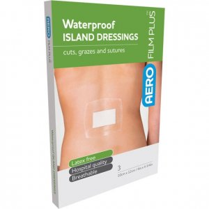AeroFilm Plus Waterproof Island Film Dressings 10cm x 12cm Env/3