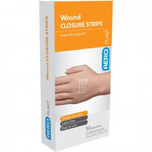 AeroPlast Wound Closure Strips - Cards of 3