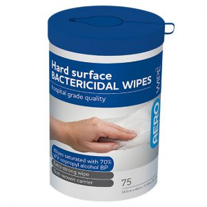 Aero Wipe Alcohol Bactericidal Surface Wipes