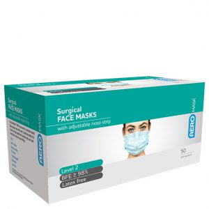 AEROMASK Surgical Face Masks with adjustable nose strip