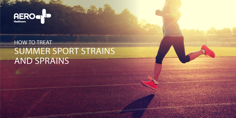 Image on how to treat strains and sprains