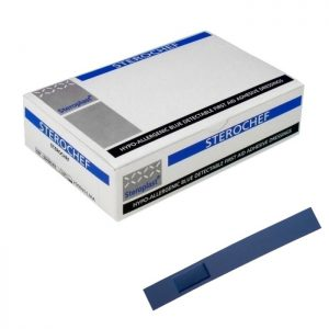 Image of the Sterochef blue adhesive dressings