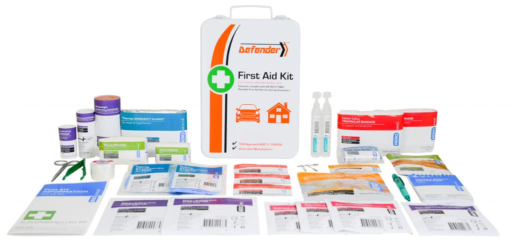 Image of AFAK3M Defender First Aid Metal Cabinet & Contents