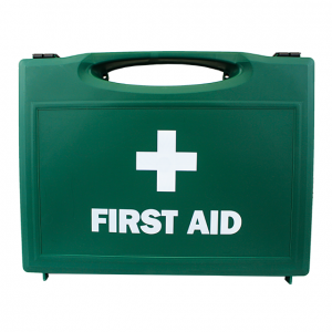 Green Plastic First Aid Cases large